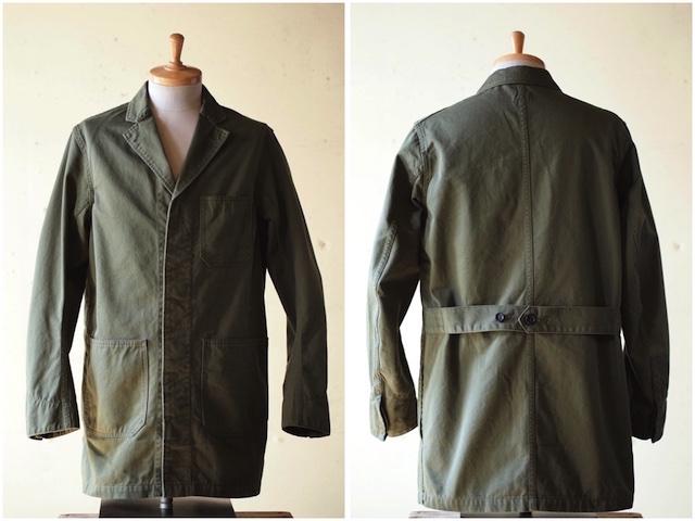 WORKERS Shop Coat 8oz Chino Khaki-4