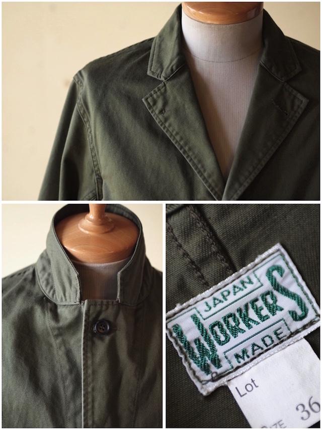 WORKERS Shop Coat 8oz Chino Khaki-5