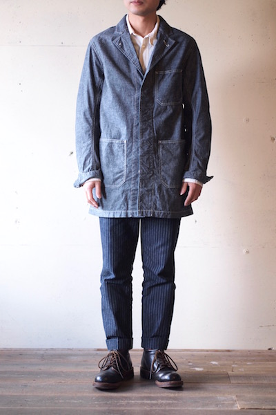 WORKERS Shop Coat 8oz Indigo Chambray-3