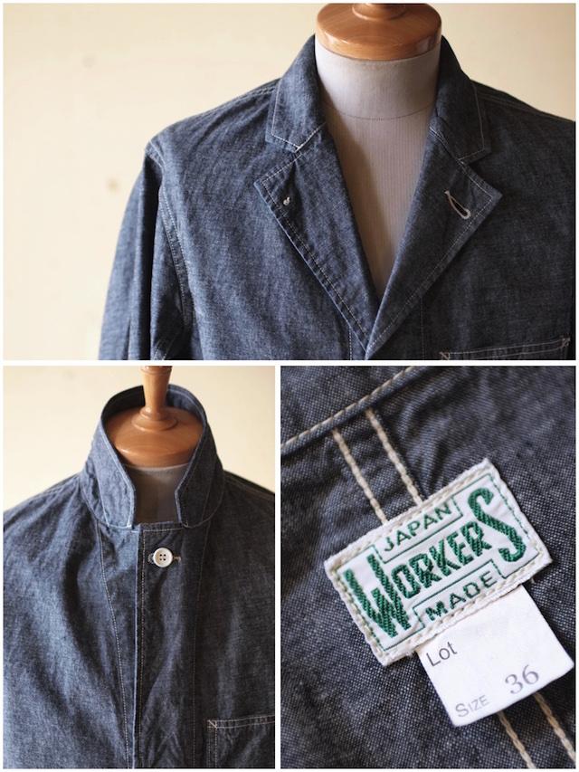 WORKERS Shop Coat 8oz Indigo Chambray-5