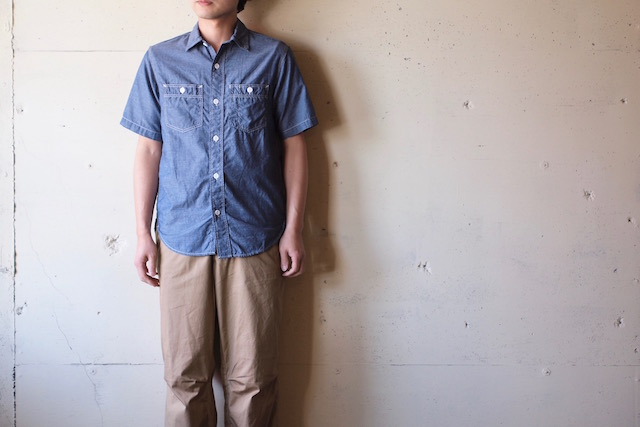 WORKERS Short Sleeve Work Shirt Lt. Chambray Blue-2