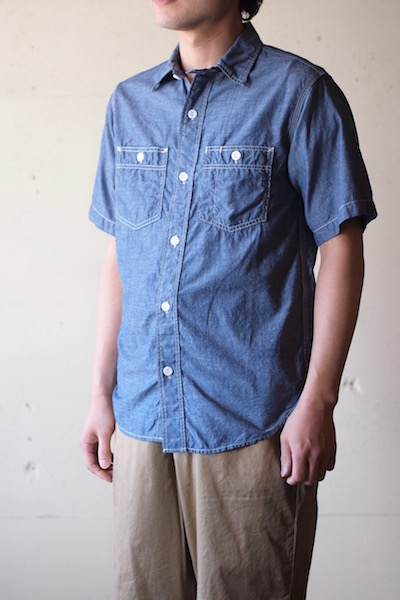 WORKERS Short Sleeve Work Shirt Lt. Chambray Blue-3