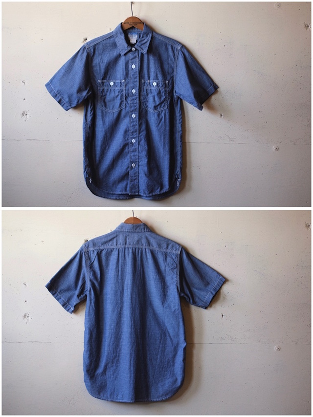 WORKERS Short Sleeve Work Shirt Lt. Chambray Blue-4