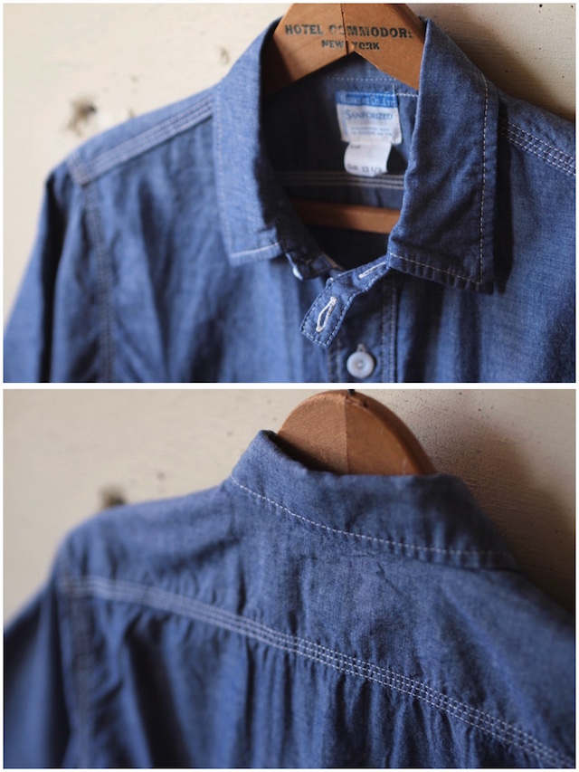 WORKERS Short Sleeve Work Shirt Lt. Chambray Blue-5