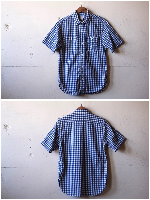 WORKERS Short Sleeve Work Shirt Lt. Chambray Gingham-4
