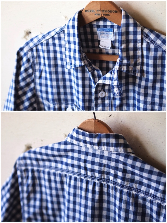 WORKERS Short Sleeve Work Shirt Lt. Chambray Gingham-5