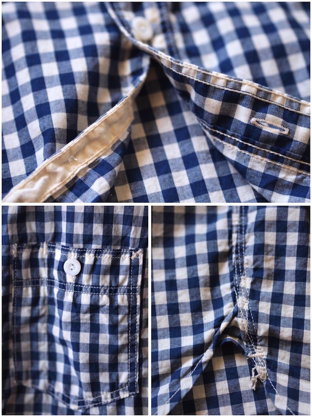 WORKERS Short Sleeve Work Shirt Lt. Chambray Gingham-6