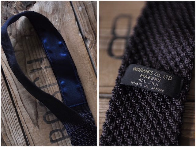 WORKERS Silk Knit Tie Charcoal Grey, Dark Navy-5