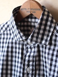 WORKERS Widespread Collar Shirt Black Gingham-Link