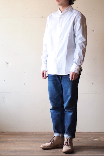WORKERS Widespread Collar Shirt GIZA Cotton Broadcloth White-3