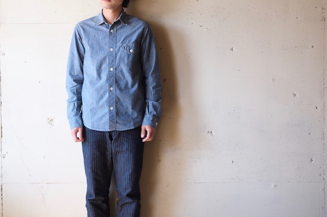WORKERS Work Shirt 4oz Supima Cotton Chambray-2