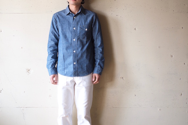 WORKERS Work Shirt 5.5oz Blue Chambray-2
